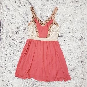 Dresses & Skirts - Coral Lace Tribal Dress